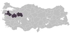 Bor madeninin çıkartıldığı alanların türkiye haritası üzerinde gösterilmesi
