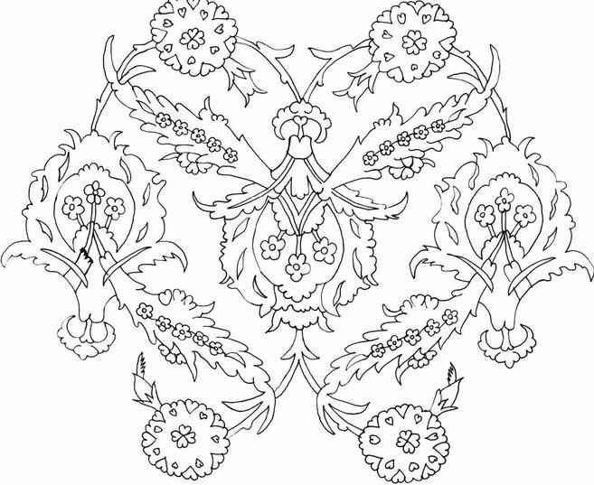 Çini motifi örneği