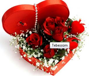 Sevgiliye çiçek örneği