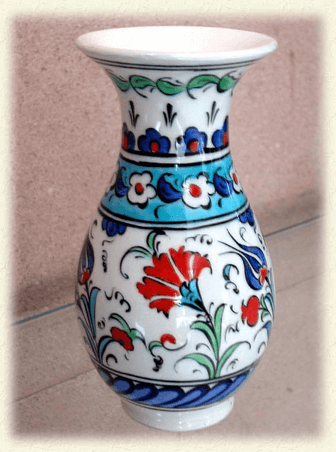 Çini vazo örneği