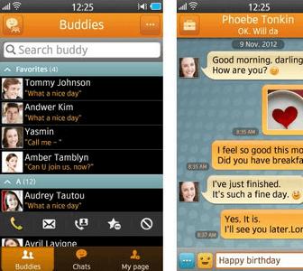 Chat on uygulamasının genel görünümü